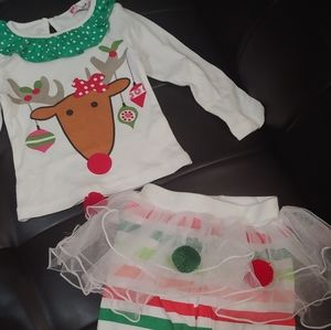 Boutique Reindeer Christmas outfit 18-24 mos